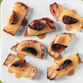 Grilled Bruschetta with Teleme, Honey, and Figs