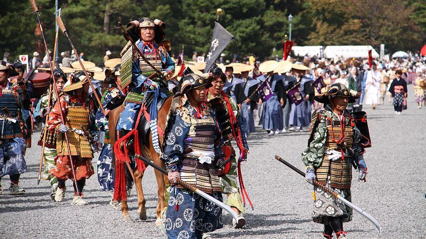 Samurai show in Japan festival