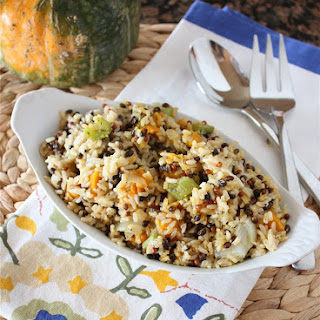 Thyme Roasted Vegetable and Wild Rice Pilaf