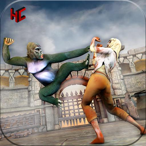 Zombie VS Monster VS Gorilla Fighting Game