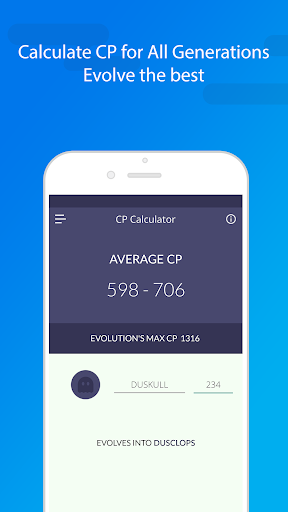 Evolution CP & IV Calculator for pokemon screenshot 1