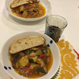 Ratatouille – Eggplant, Zucchini, Green Pepper Stew.