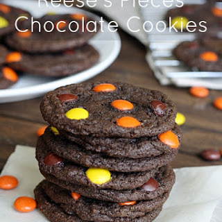 Reese's Pieces Chocolate Cookies.