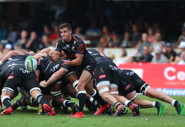 The Cell C Sharks captain Louis Schreuder in action during a Super Rugby match against the Reds at Kings Park Stadium in Durban on April 19 2019.
