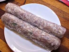 "Photo: ""naem"" sour sausage cured for one full week for the fried rice"
