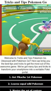 Tricks and Tips Pokemon Go- screenshot thumbnail
