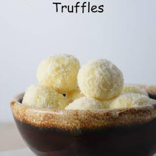 Tropical White Chocolate Truffles.