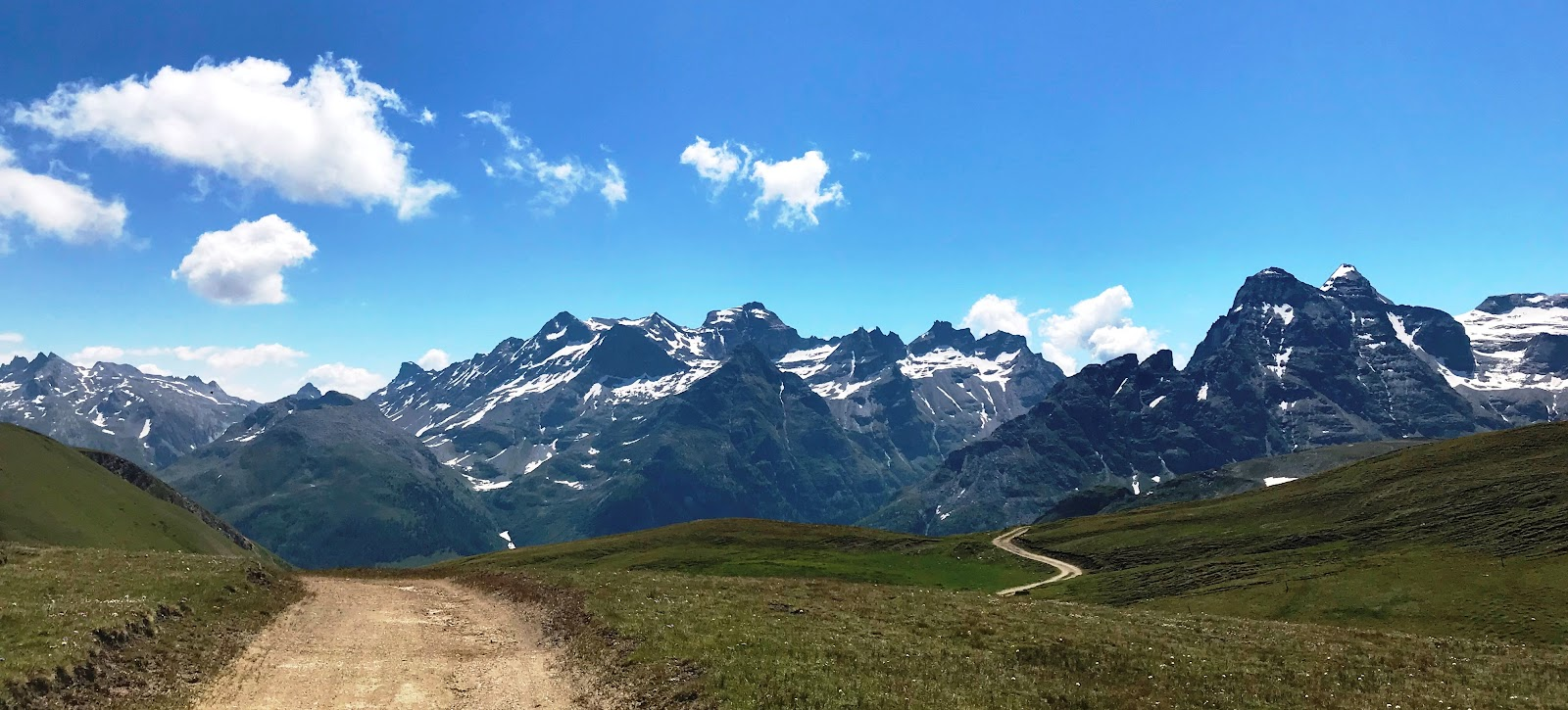 Cycling Breithorn - mountains, gravel road, fields