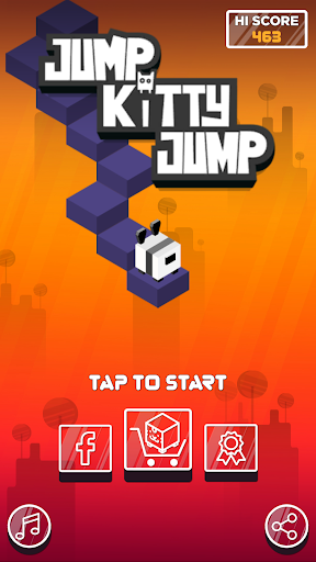 Jump Kitty Jump - A Cube Jumping Game  captures d'u00e9cran 1