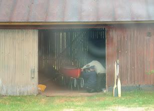 Photo: Jaakkolan heinäladossa ei varmaan ole ennen viritelty kanoottiin kiinitysnaruja.