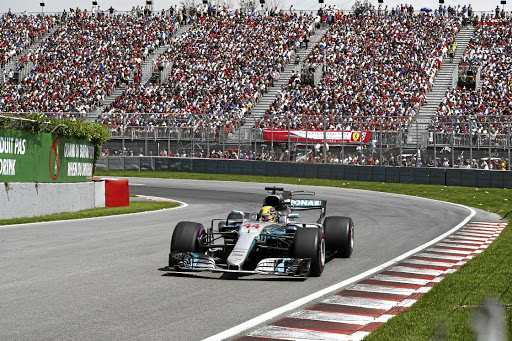 Lewis Hamilton  closed the gap slightly to Vettel with a win in Canada.   Picture: DAIMLER