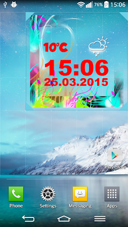 Neon Digital Weather Clock 2.0 screenshot 1039295