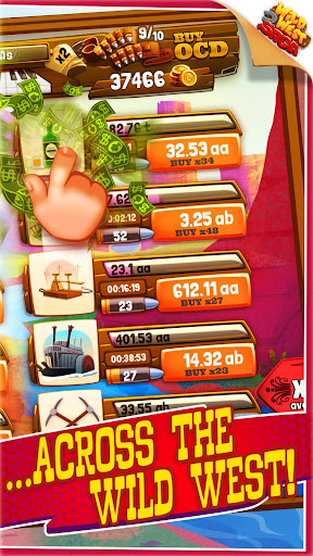 Idle Tycoon: Wild West Clicker Game - Tap for Cash modavailable screenshots 2
