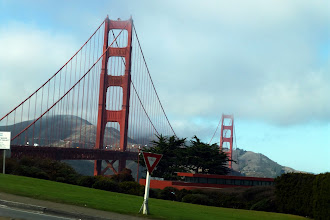 Photo: Golden Gate Bridge topped with some of the famous fog. Part of the Golden Gate National Recreation Area.