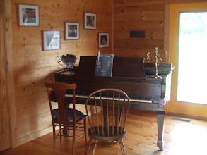 Photo: piano in the library
