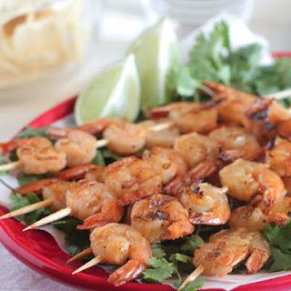 Taco Lime Grilled Shrimp Skewers.