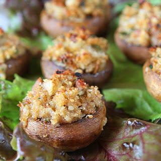 Stuffed Mushrooms With Ricotta Surprise.