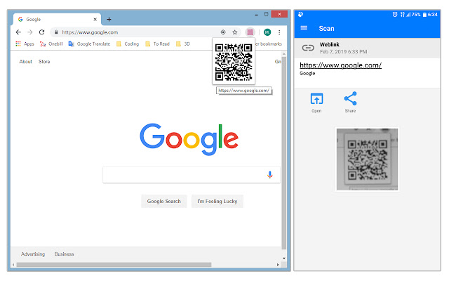 QR Code Generator for Current Page Address