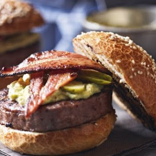 Heston Blumenthal's smoky avocado beef burger