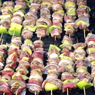 Souvlakia (Greek Marinated Lamb Kebabs).