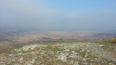 Photo: Vue nord-est. Malheureusement dans la brume.