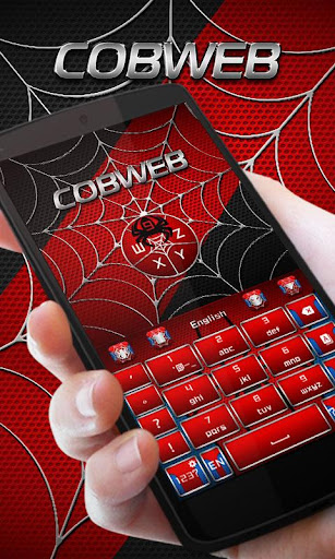Cobweb Hero GO Keyboard Theme 4.5 screenshots 2