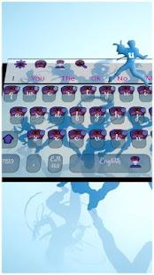 Blue Ball Anime Keyboard Téma - náhled