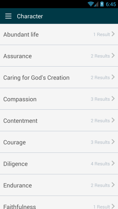 Gideon Bible App- screenshot