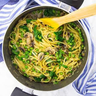 Garlic Mushroom One Pot Pasta.