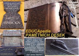 Photo: EDUCApedie pamětních desek. Školní projekt Gymnázia EDUCAnet Ostrava.
