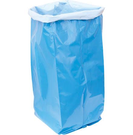 Sopsäck LLD 125l blå/vit 120my