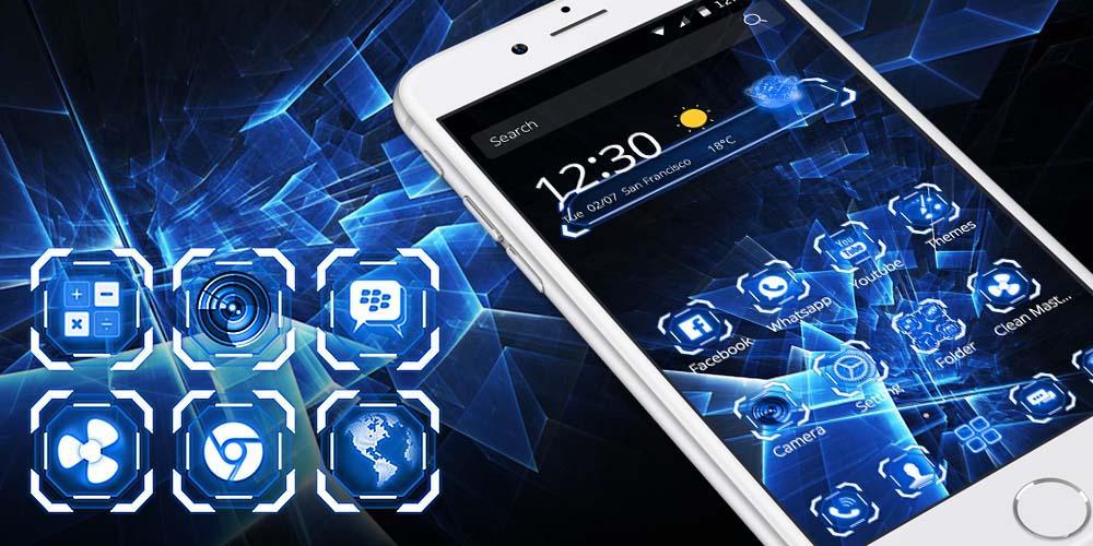 Hitam Teknologi Tema Apl Android Google Play Screenshot Gambar Hd