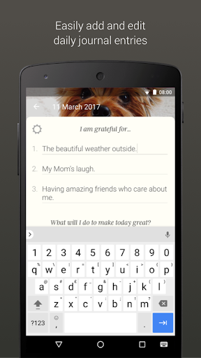 Screenshot for Five Minute Journal in United States Play Store