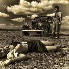 by Soran Sorin - People Fine Art ( theatre, scene, couple )
