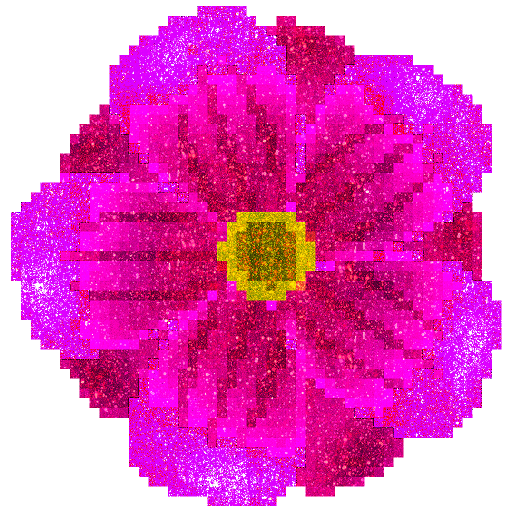 Flowers Glitter Pixel Art - Color by Number Pages Icon