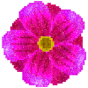 Flowers Glitter Pixel Art - Color by Number Pages