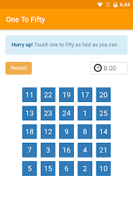 One To Fifty - How fast is your brain? - náhled