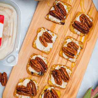 Fall Pumpkin Goat Cheese, Pecan & Honey Appetizer