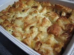 Place the bread pudding in a medium sized casserole dish. Place dish in a...