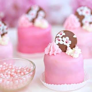 Cherry Blossom Petit Fours.