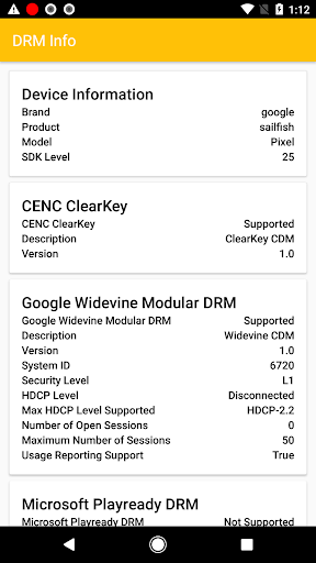 DRM Info screenshot 1