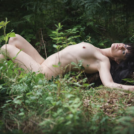 Amethyst in the forest by Rob James - Nudes & Boudoir Artistic Nude ( reclined, art nude, nude, green, woodland, forest, woods )