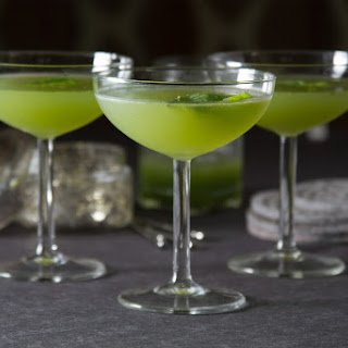 Cucumber Basil Gimlet Cocktail