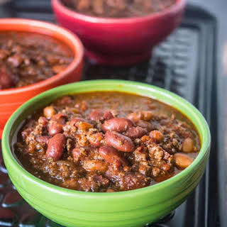 Pressure Cooker Quick Chili with Canned Beans.