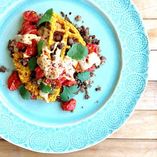 Curried Carrot Fritters Stack