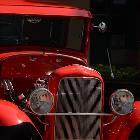 Ready to Ride by Jim Schlett - Transportation Automobiles ( car, red, ca, vehicle, auto, roadrally )