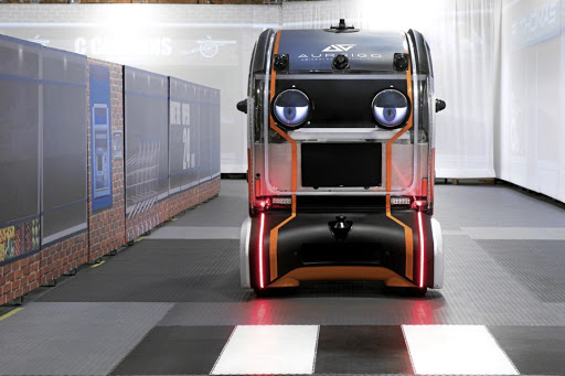 The friendly-faced 'eye pods' have a vital job in helping to work out how much information future autonomous cars should share with users or pedestrians.
