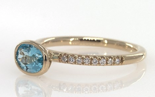Yellow Gold East-West Topaz Diamond Ring from James Allen