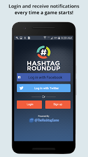 Hashtag Roundup- screenshot thumbnail