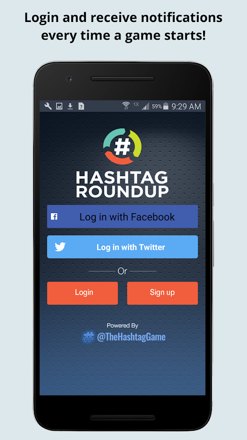 Hashtag Roundup- screenshot